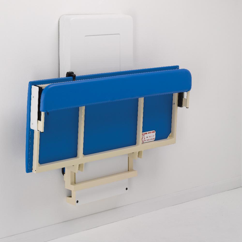 Easi Lift Changing Bench Blue Stowed Away - easi-lift changing bench