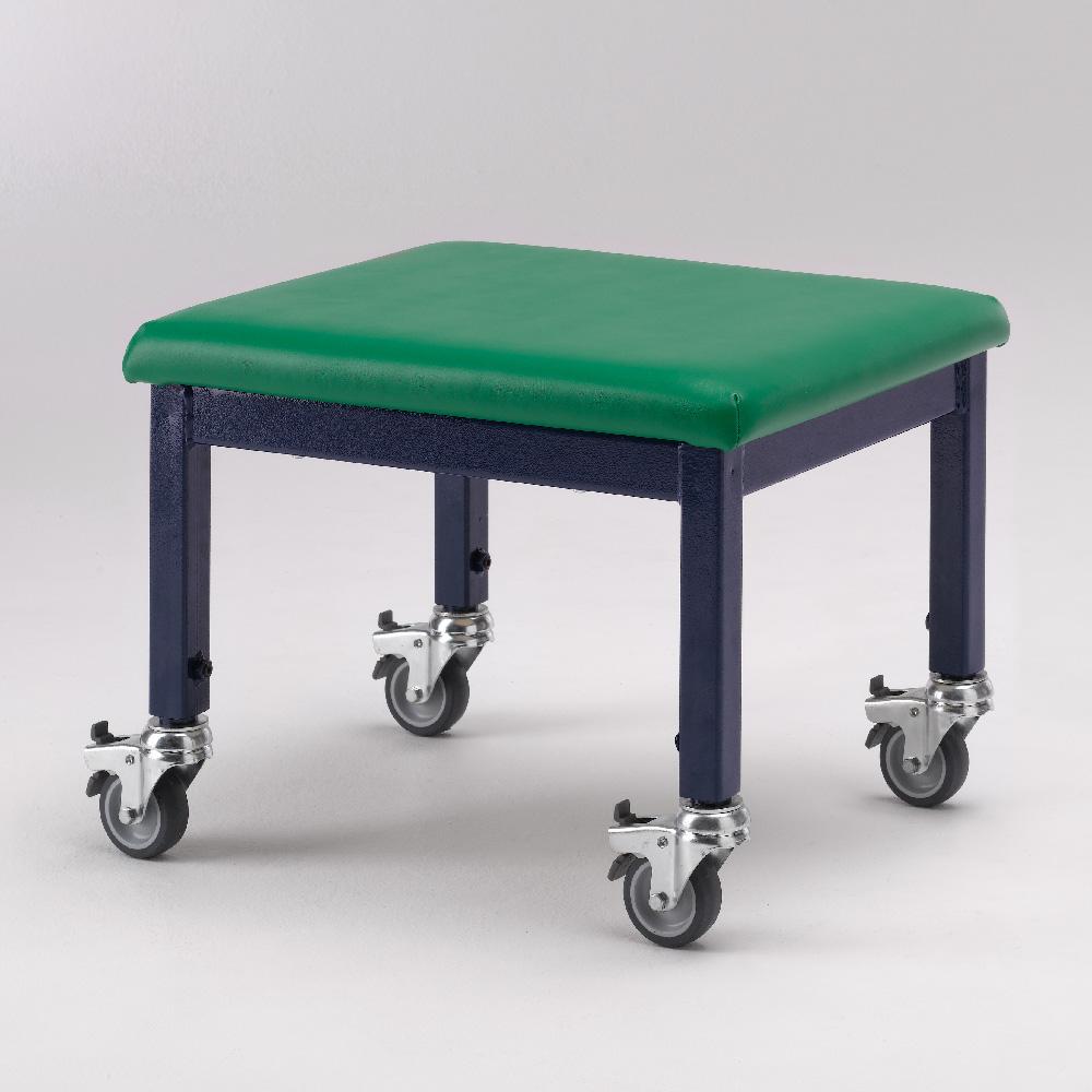 SW wheely stool green 8 - adjustable height wheely stool